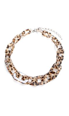 Zenzii Short Resin Necklace - Leopard Brown.  Shop for this and other Zenzii accessories at luanders.com.