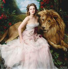 Drew Barrymore in VOGUE by Annie Leibovitz