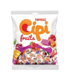 New Fresh Design for Cipi Toffees - packaging design by Gilbert Vasile Snack Recipes, Snacks, Toffee, Packaging Design, Chips, Fresh, Food, Snack Mix Recipes, Sticky Toffee