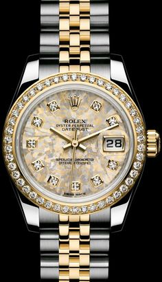 ROLEX LADY-DATEJUST: GOLD CRYSTALS DIAL - ROLEX Timeless Luxury Watches: