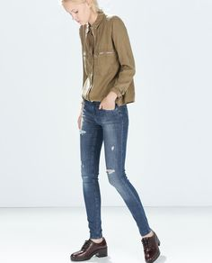 Image 1 of RIPPED JEGGINGS from Zara