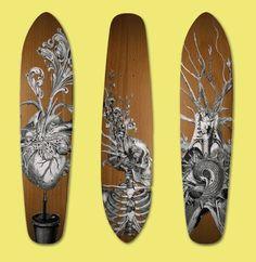 Death & life series skateboards by Travis Bedel