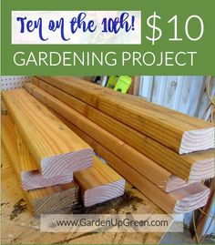 Gardening Project - See what she made for $10 - the Perfect size raised bed