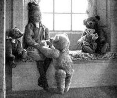 Little girls and teddy bears.