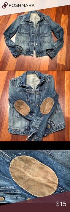 GAP Jean Jacket with Elbow Patches This was one of my favorite jackets but it hasn't fit in a few years and has just been in my closet. Smoke/pet free home. GAP Jackets & Coats Jean Jackets