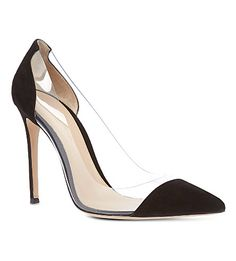 e3a6f749a51 GIANVITO ROSSI Calabria suede and PVC pumps (Black