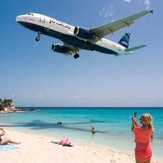 Saint Martin Live Cam: Sint Maarten Beach Jet Blue