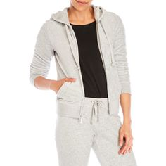 Juicy Couture Robertson Velour Zip-Up Hoodie (2.850 RUB) ❤ liked on Polyvore featuring tops, hoodies, pink, pink hoodie, white hoodie, white hoodies, velour hoodie and white hooded sweatshirt