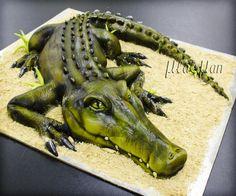 Crocodile cake - Cake by MLADMAN - CakesDecor