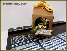 Ostergrüße 2- kleine Box mit dem Envelope Punch Board: Papiergröße: 14.7 x 14,7 cm, stnazen + falzen bei: 4,2cm + 12cm, für die anderen 3 Seiten an den Falzlinien anlegen + stanzen + falzen, ...