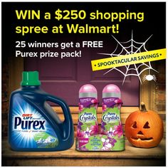 One lucky entrant will win a $250 Walmart shopping spree and 25  winners will receive a Spooky Prize Pack.  Good luck!