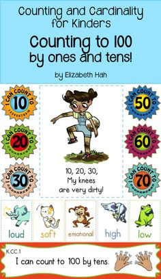 Encourage students to master counting to 100 in fun, engaging ways. $ #commoncoremath #countingandcardinality #kindergartenmath