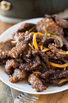 This take-out, fake-out: crispy beef is easy enough to make at home that you won't miss take-out! @Julie Forrest Forrest {Table for Two}