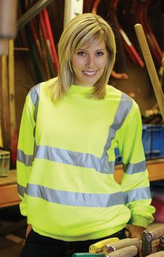 Yoko Hi-Vis Heavyweight Sweatshirt - Under £12