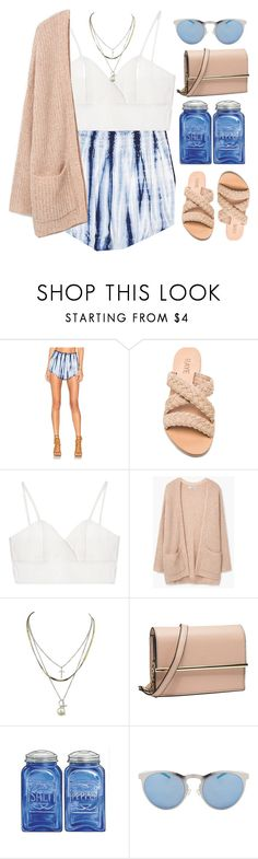 """""""Untitled #2095"""" by credendovides ❤ liked on Polyvore featuring Beach Bunny, Chicnova Fashion, MANGO and Illesteva"""