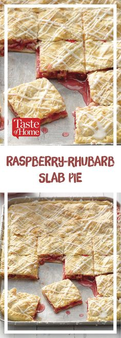 Raspberry-Rhubarb Slab Pie Raspberry-Rhubarb Slab Pie Blueberry Slab Pie RecipeEasy Slab Pies For a CrowSlab Pies That Will Make Just Desserts, Delicious Desserts, Dessert Recipes, Yummy Food, Pie Recipes, Dessert Ideas, Slab Pie, Pie Pie, Rhubarb Cake