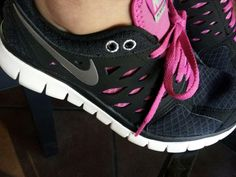 Pink and Black Nikes