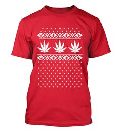 mens marijuana fashion design and cannabis clothing concept at Etsy  Pot leaf T-shirt ugly Christmas sweater mock weed by NiftyShirts