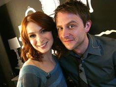 Chris Hardwick and Felicia Day