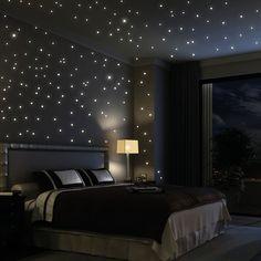 203 Stk fluoreszierend Sterne leuchten im Dunklen von Wandtattoo-Loft auf DaWanda.com
