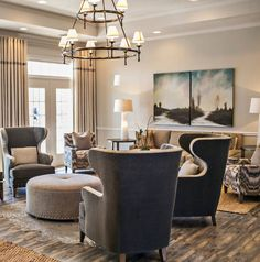 Genial This Living Room Features The Landon Wing Chairs And Echo Ottoman From Marty  Mason Collected Home.