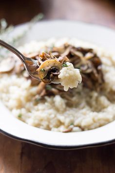 Try this easy to follow recipe for baked wild mushroom risotto.