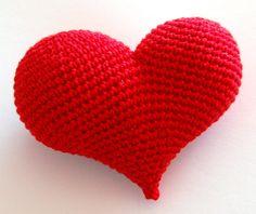 Amigurumi kalp yapılışı, Amigurumi heart pattern