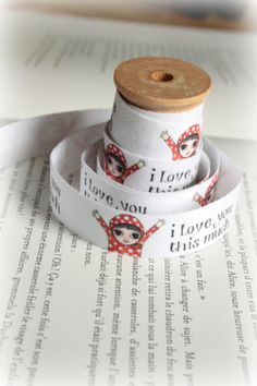 I love you this much Cotton Tape by lillalotta on Etsy, $4.95