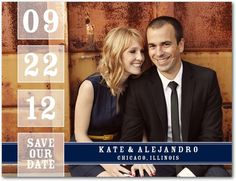 Our Date - Save the Date Postcards - Jenny Romanski - Rust - Orange : Front
