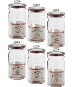 Set Of 6 Litre Kilner Vintage Air Tight Push Top Seal Glass Herb Preserving Storage Jars Kilner Jars, Mason Jars, Storage Jars, Vintage Air, Spice Jars, Free Delivery, Spices, Herbs, Amazon