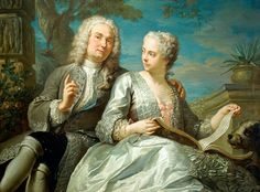 Portrait of a Married Couple by Jacques Dumont, 1733 (c) Museum of Fine Arts, Springfield, Massachusetts