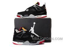 7158e958b4e785 Air Jordan Shoes Air Jordan 4 Bull Black Grey White Suede  Air Jordan 4 -  The Air Jordan 4 featured mesh for the first time