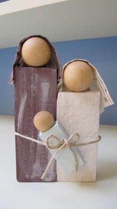 Wooden Christmas Crafts, Christmas Nativity, Homemade Christmas, Rustic Christmas, Simple Christmas, Holiday Crafts, Christmas Decorations, Christmas Ornaments, Christmas Wreaths
