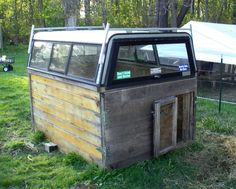 Truck Topper Goat Barn: Talk about going green by recycling around the home.