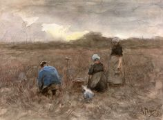 "Anton Mauve, ""Aardappelrooiers"" (""Potato Harvesters"")"