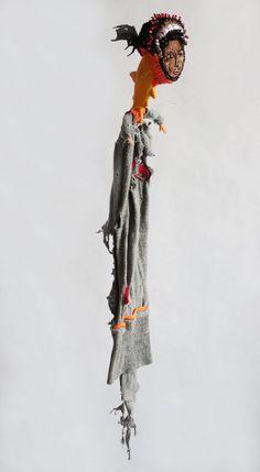Original Children Sculpture by Mona Luison Sculpture Textile, Art Sculpture, Sculptures, Portfolio D'art, Textiles, Figurative Art, Pretty Little, Puppets, Art Dolls