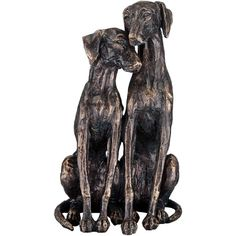 "Universal Lighting and Decor Snuggling Dogs 11 1/4"" High Bronze... ($35) ❤ liked on Polyvore featuring home, home decor, brown, sculpture, bronze home decor, bronze sculpture, dog home decor, dog sculpture and bronze dog sculpture"