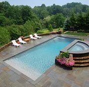 """A grand entrance"" pool design"