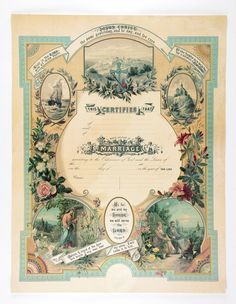 Victorian Blank Marriage Certificate