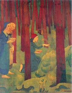 Paul Sérusier, The Incantation or The Sacred Wood, 1891/ 1892, Oil on canvas, 91,5 x 72 cm, Museum of Fine Arts, Quimper