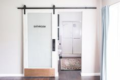 Heavy Duty Sliding Barn Door Hardware Kit (Black) Includes Easy Step-By-Step Installation Video Superior Quality, One-Piece Rail Ultra Quiet, Tested Beyond Rolls - Products Lists of Tools and Hardware Interior Sliding Barn Doors, Diy Sliding Barn Door, Sliding Doors, Front Doors, Entry Doors, Sliding Cupboard, Screen Doors, Cupboard Doors, Front Entry