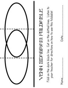 how to make foldables this is one example for a math foldable rh pinterest com book to movie venn diagram book to movie venn diagram