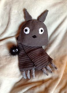 Totoro and scarf set free pattern