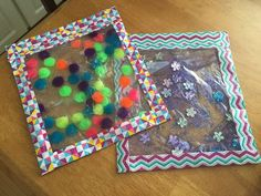 Squishy sensory bags for a 6 month old