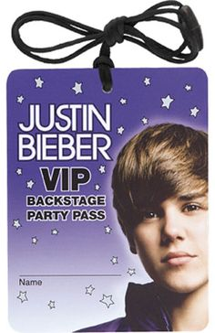 Justin Bieber Necklace Favour - Party Supplies, Ideas, Accessories ...
