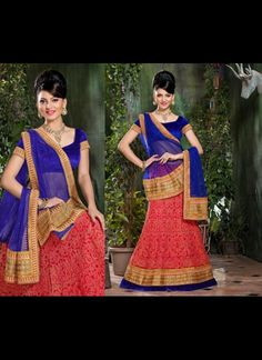 Fancy Red Lehenga Choli #wedding  #lehnga #ethnic #wear #Indian #Fashion #Latest #Outfits #women #designer  #shaadi #bride #stylish #bollywood #beauty #net #georgette #embroidery #AsianClothes