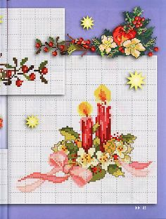 natale fiore fiocco candele (2)
