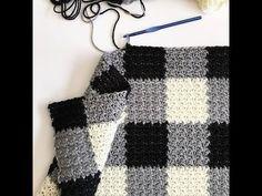 Crochet Griddle Stitch Gingham Blanket | Daisy Farm Crafts