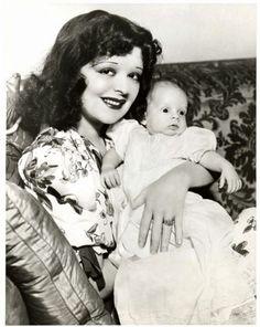 Clara Bow and son