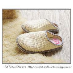 Ravelry: Crochet-Knit White Slipper-Clogs - Basic Pattern - Part 1 pattern by Ingunn Santini